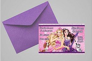 Convite 10x15 Barbie 039