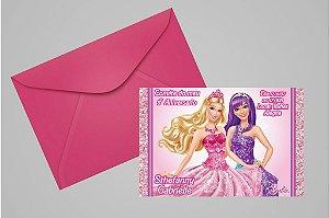 Convite 10x15 Barbie 042