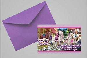 Convite 10x15 Barbie 043