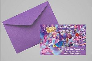 Convite 10x15 Barbie 044