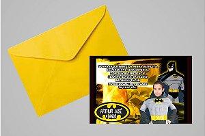 Convite 10x15 Batman 005 com foto