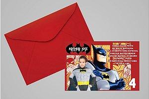 Convite 10x15 Batman 008 com foto