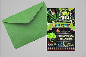 Convite 10x15 Ben 10 015