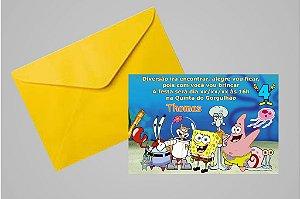 Convite 10x15 Bob Esponja 001