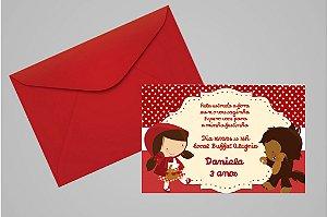 Convite 10x15 Chapeuzinho Vermelho 001