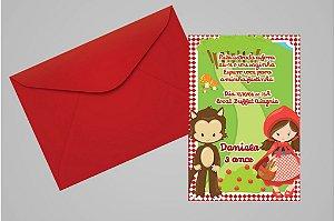 Convite 10x15 Chapeuzinho Vermelho 005