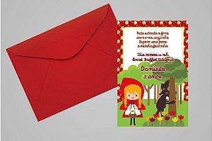Convite 10x15 Chapeuzinho Vermelho 006