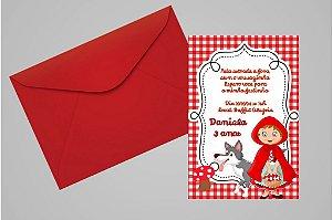 Convite 10x15 Chapeuzinho Vermelho 007