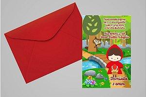 Convite 10x15 Chapeuzinho Vermelho 008