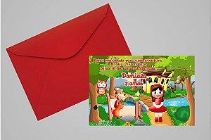 Convite 10x15 Chapeuzinho Vermelho 010