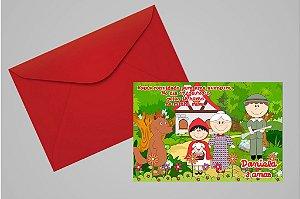 Convite 10x15 Chapeuzinho Vermelho 012