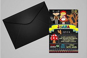 Convite 10x15 Chapeuzinho Vermelho 013