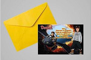 Convite 10x15 Como Treinar o Seu Dragão 001 com foto
