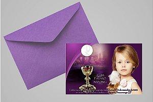 Convite ou foto lembrança 10x15 de Primeira Comunhão 005
