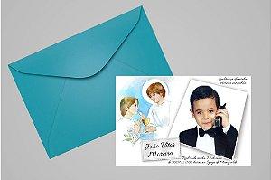 Convite ou foto lembrança 10x15 de Primeira Comunhão 008