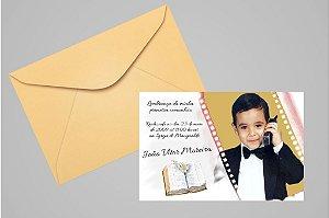 Convite ou foto lembrança 10x15 de Primeira Comunhão 033