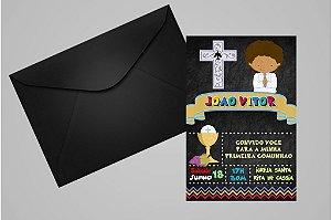 Convite ou foto lembrança 10x15 de Primeira Comunhão 048