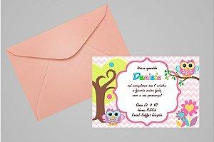 Convite 10x15 Coruja 008