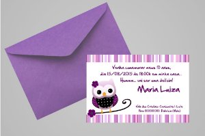Convite 10x15 Coruja 009
