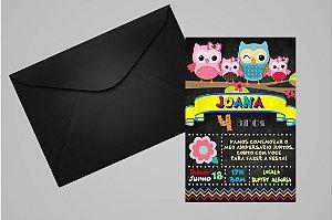 Convite 10x15 Coruja 010