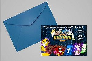 Convite 10x15 Digimons 001