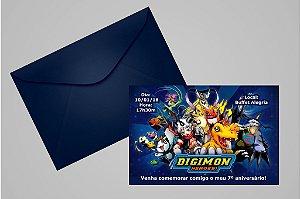 Convite 10x15 Digimons 004