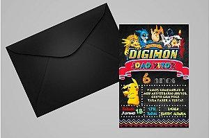 Convite 10x15 Digimons 005