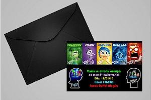 Convite 10x15 Divertida Mente 002