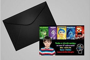 Convite 10x15 Divertida Mente 002 com foto