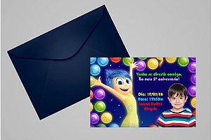 Convite 10x15 Divertida Mente 004 com foto