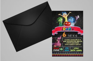 Convite 10x15 Divertida Mente 005