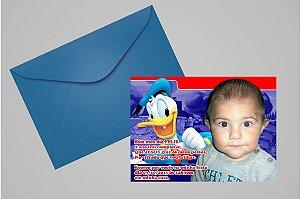 Convite 10x15 Donald 004 com foto