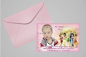Convite 10x15 Fadas Disney 015 com foto