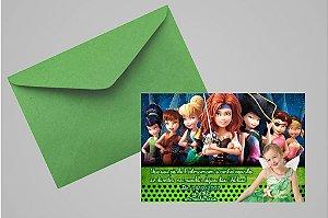 Convite 10x15 Fadas Disney 020 com foto