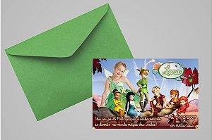 Convite 10x15 Fadas Disney 023 com foto