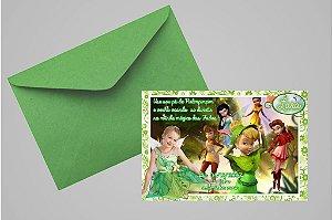 Convite 10x15 Fadas Disney 025 com foto