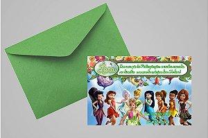 Convite 10x15 Fadas Disney 026 com foto