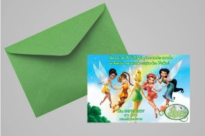 Convite 10x15 Fadas Disney 027