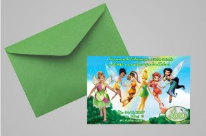 Convite 10x15 Fadas Disney 027 com foto