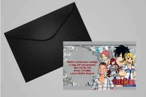 Convite 10x15 Fairy Tail 001com foto