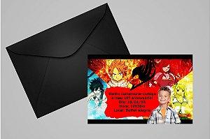 Convite 10x15 Fairy Tail 002 com foto