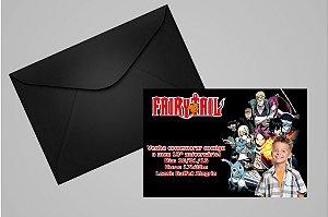 Convite 10x15 Fairy Tail 003 com foto