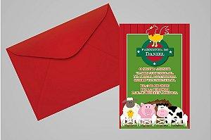 Convite 10x15 Fazendinha 010
