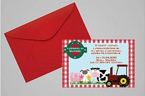 Convite 10x15 Fazendinha 011