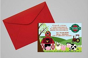 Convite 10x15 Fazendinha 012