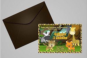 Convite 10x15 Floresta Encantada 001