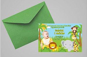 Convite 10x15 Floresta Encantada 002 com foto