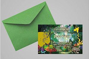 Convite 10x15 Floresta Encantada 004