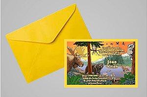 Convite 10x15 Floresta Encantada 005