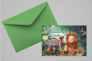 Convite 10x15 Floresta Encantada 006 com foto